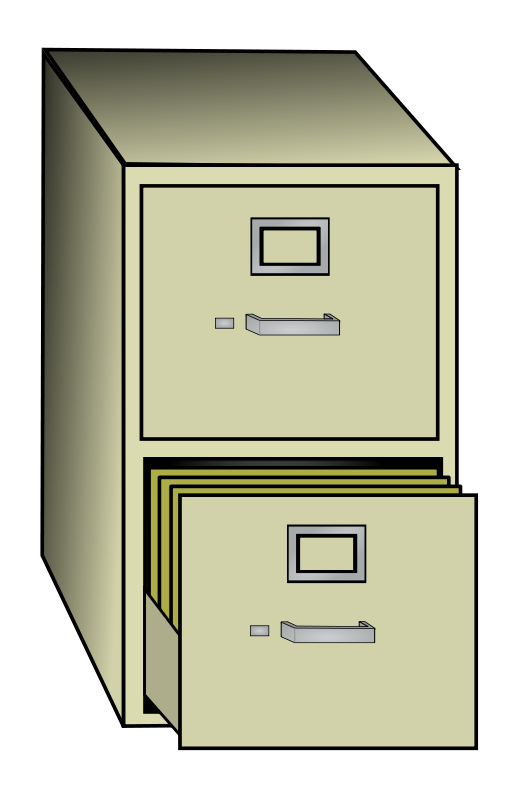2 drawer file cabinet clipart banner transparent library Free Clipart: File Cabinet | eric_weigle banner transparent library