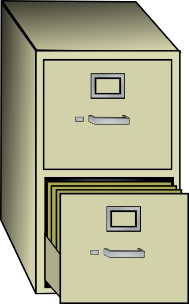 2 drawer file cabinet clipart library Metal File Cabinet clip art Free vector in Open office drawing svg ... library