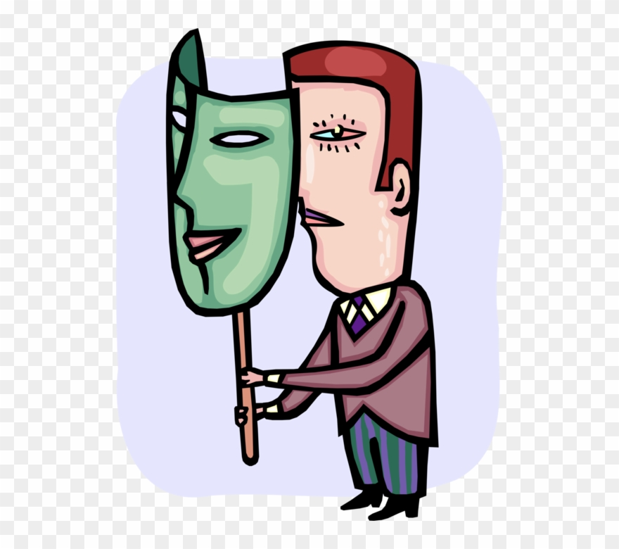 2 faced clipart jpg black and white stock Vector Illustration Of Two Faced Hypocritical Or Double Clipart ... jpg black and white stock