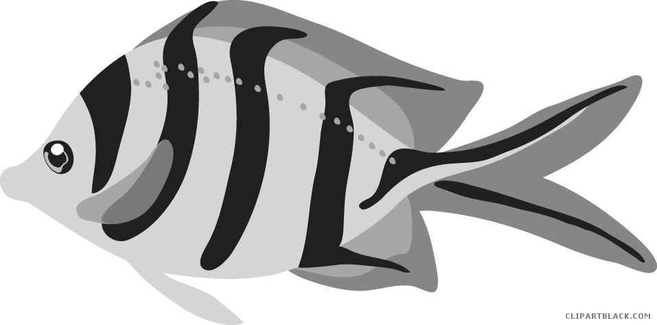 2 fish clipart picture black and white download Tropical Fish Clipart - Page 2 of 3 - ClipartBlack.com picture black and white download