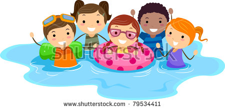 Kids Swimming Stock Images, Royalty-Free Images & Vectors ... svg black and white library