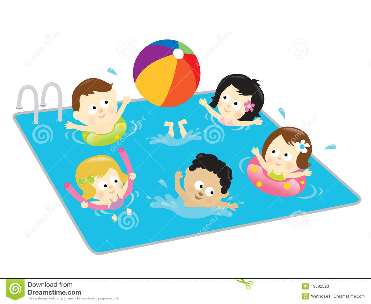 2 girls and 1 boy swimming in the pool clipart png library stock Swimming Pool Clip Art & Swimming Pool Clip Art Clip Art Images ... png library stock