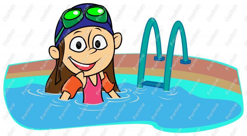 2 girls and 1 boy swimming in the pool clipart clip black and white library Swimming Pool Clip Art & Swimming Pool Clip Art Clip Art Images ... clip black and white library