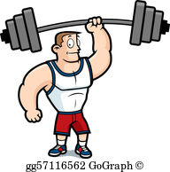 Weight lifter clipart vector royalty free library Weight Lifting Clip Art - Royalty Free - GoGraph vector royalty free library