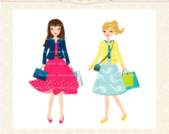 2 girls shopping clipart picture free Free Art Pictures Of Girls, Download Free Clip Art, Free Clip Art on ... picture free