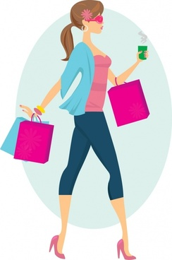 Girl shopping clipart free picture library library Girl shopping clipart 2 » Clipart Station picture library library