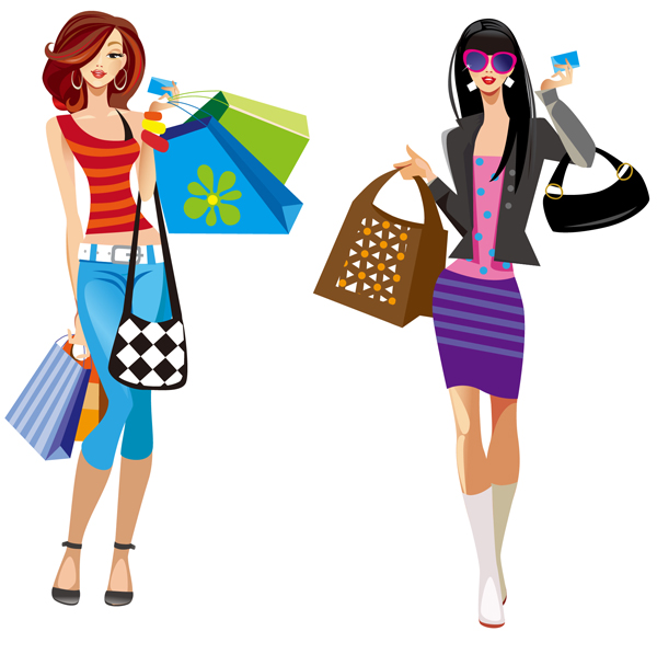 Library of girl shopping graphic library library free png files ...