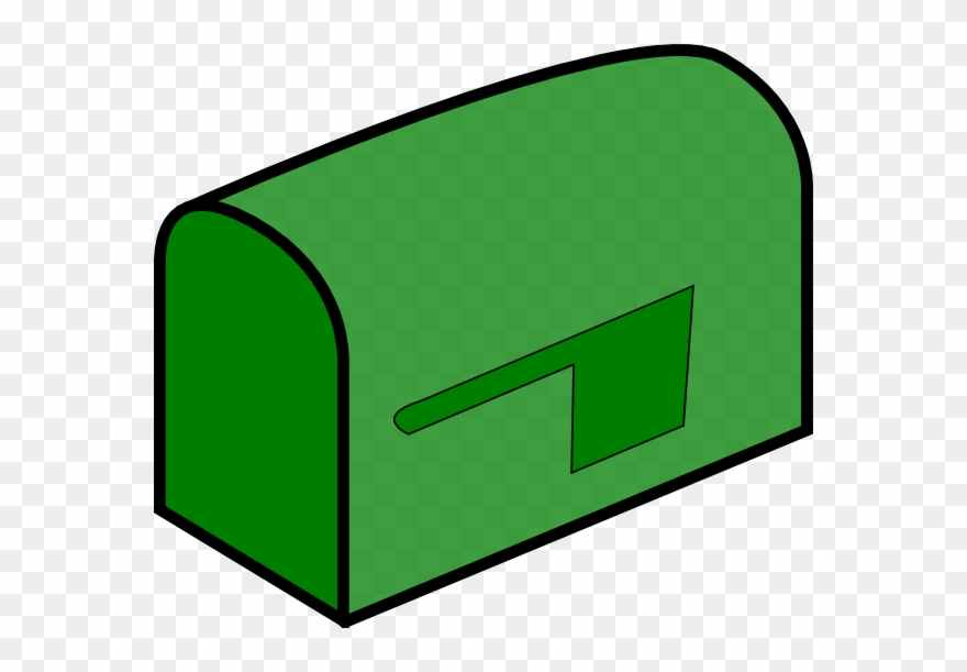 Green Mail Box Clipart (#26221) - PinClipart graphic black and white