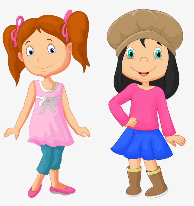 Clipart two girls svg transparent library Two girls clipart 9 » Clipart Station svg transparent library