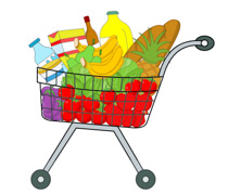 Clipart groceries graphic transparent Free Grocery Clipart - Clip Art Pictures - Graphics - Illustrations graphic transparent