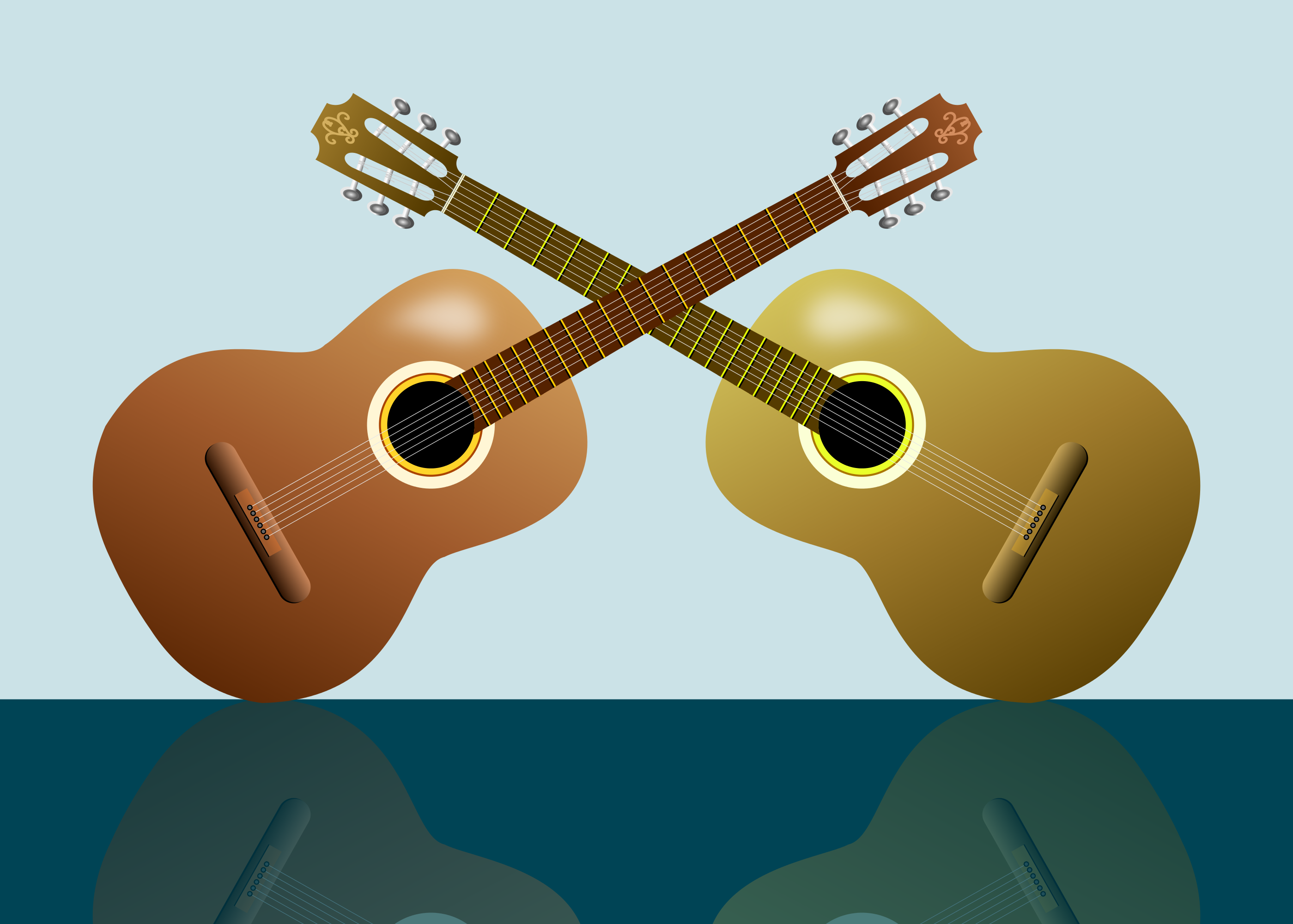 2 guitars clipart clip black and white library 2 guitars clipart 2799x2000 | Clip Art Everyday for Cards ... clip black and white library