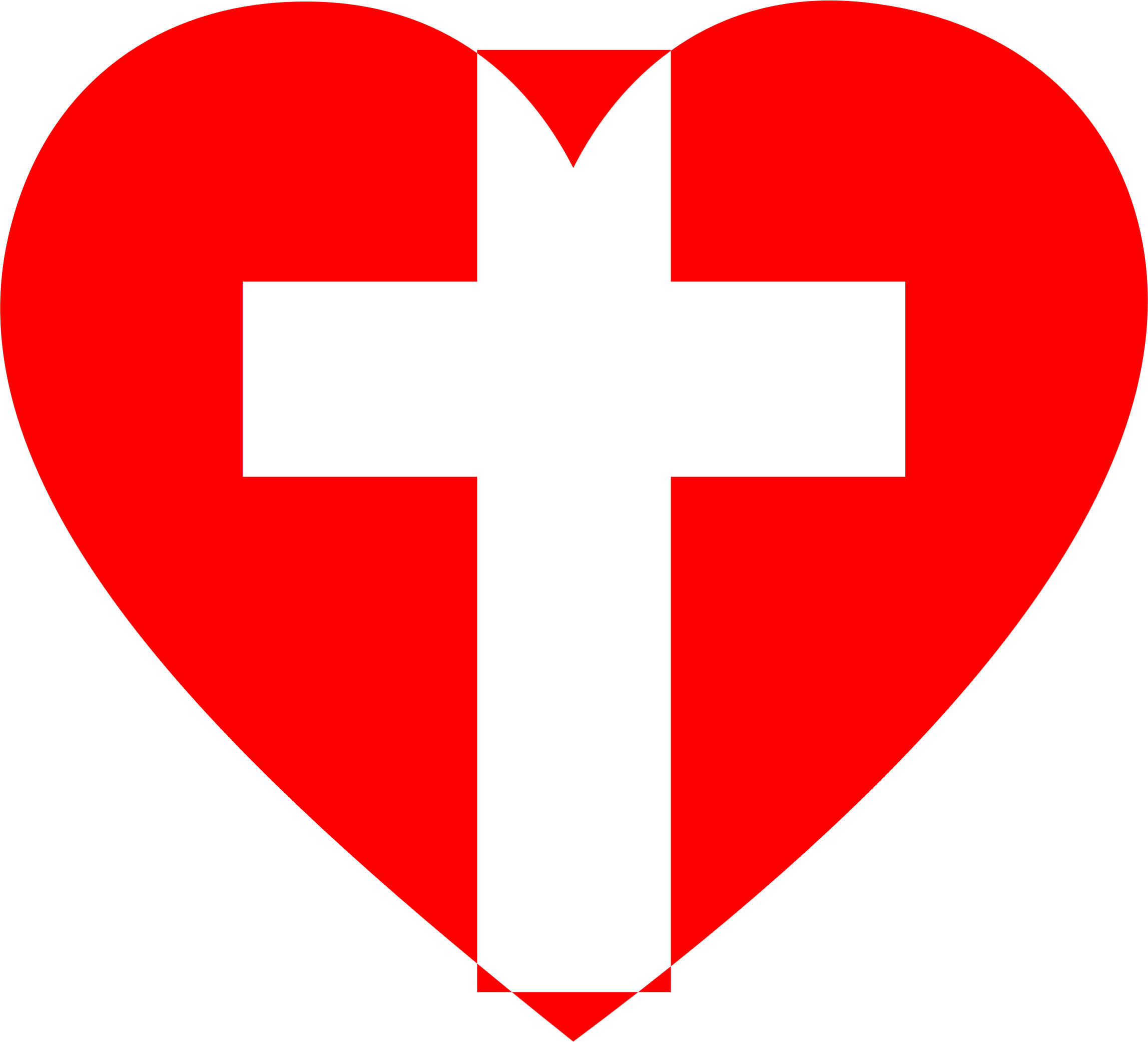 2 heart clipart image black and white stock Clipart - Heart Cross 2 image black and white stock