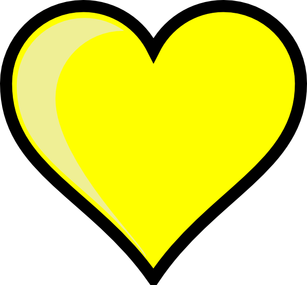 Heart carved in tree clipart png black and white heart | Yellow Heart clip art - vector clip art online, royalty free ... png black and white