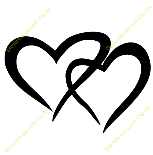2 hearts clipart graphic black and white library Two Hearts Clipart | Clipart Panda - Free Clipart Images graphic black and white library