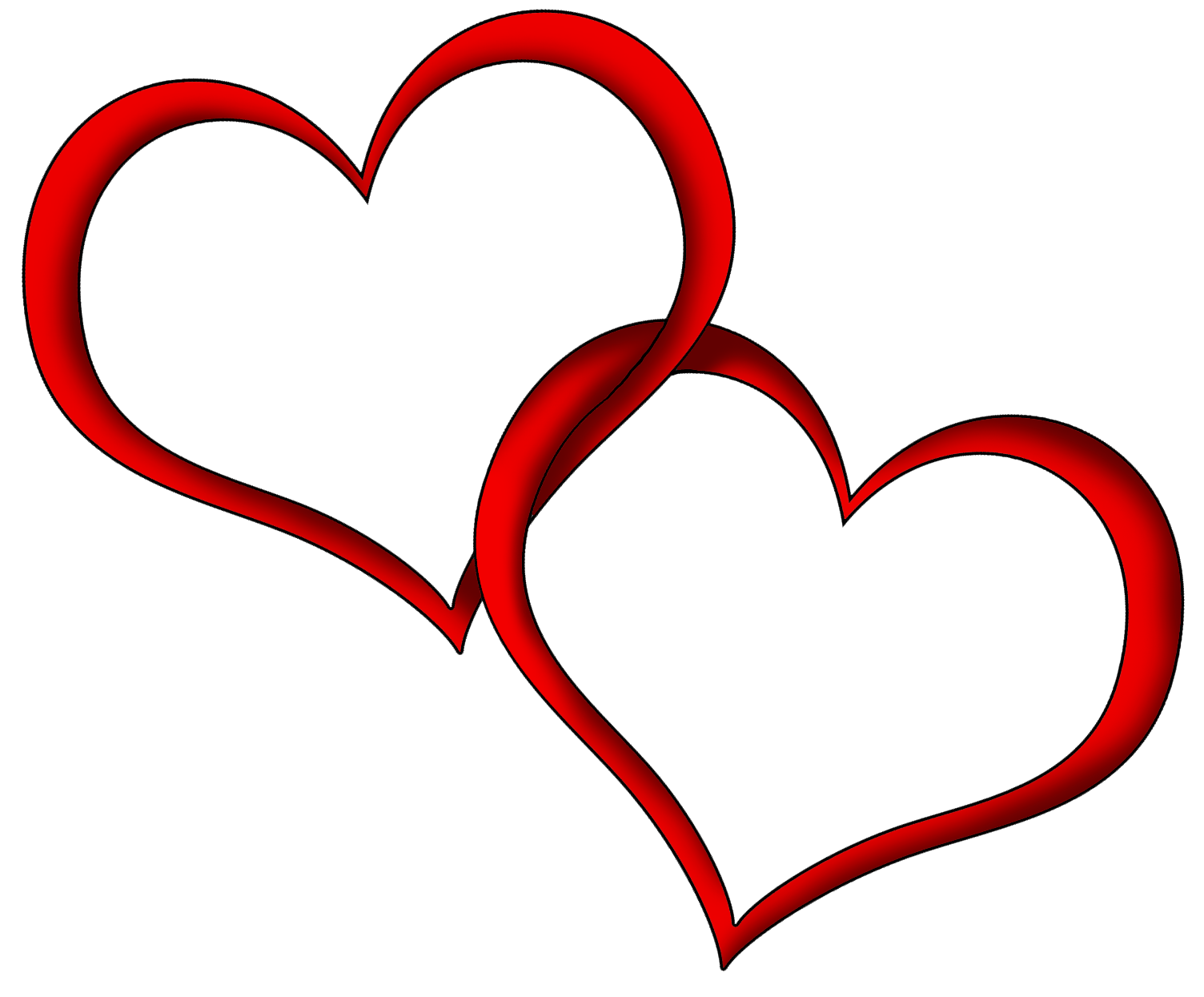 Two fancy hearts clipart