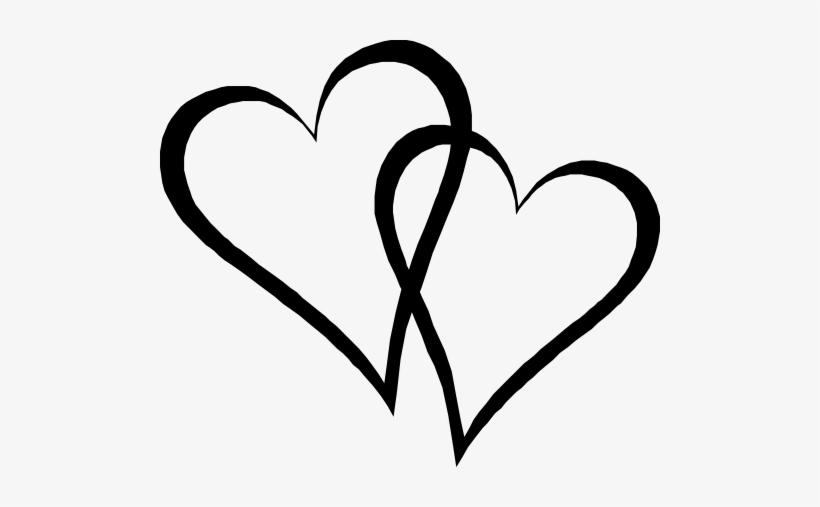 2 hearts interlocking clipart image free stock Two Elongated Hearts - Interlocking Hearts Transparent PNG - 500x427 ... image free stock