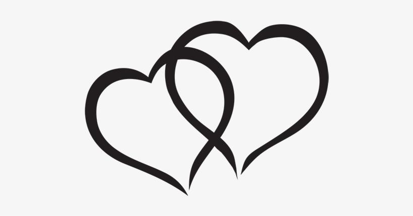 2 hearts interlocking clipart clip art library stock Hearts Clipart Interlocked - Interlocking Hearts Black And White ... clip art library stock
