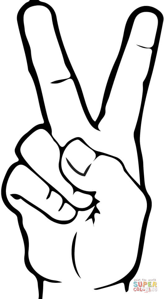 2 in asl clipart clipart transparent library ASL Number 2 coloring page | Free Printable Coloring Pages clipart transparent library