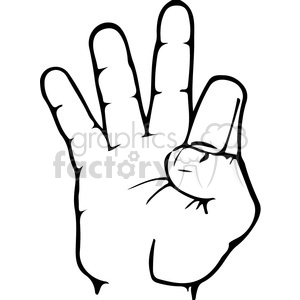 2 in asl clipart clip black and white library Clip Art / Signs-Symbols / Sign Language and more related vector ... clip black and white library