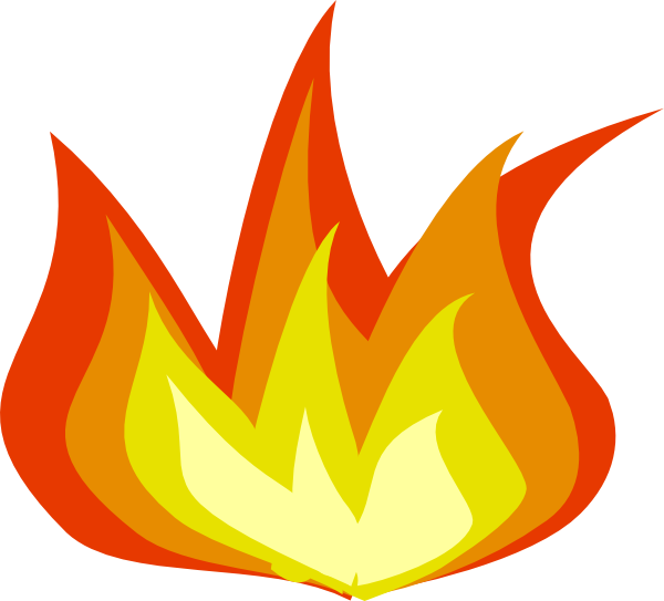2 in flames clipart png library download Fire flames clipart free clipart images 2 - Clipartix png library download