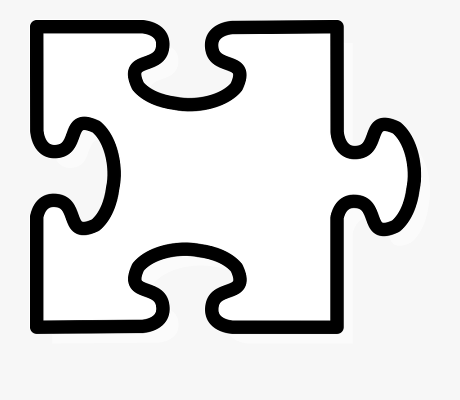 2 puzzle piece clipart clip library Jigsaw Clipart Black And White Uploaded By The Best - Puzzle 2 ... clip library