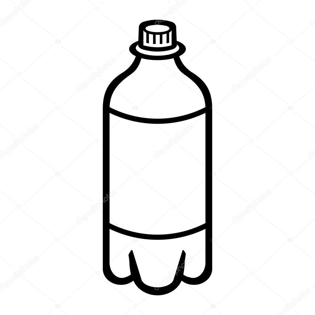 Library of bottle image freeuse black and white png files ...