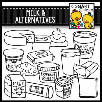 2 milk cheese clipart svg freeuse Milk and Alternatives Clip Art svg freeuse