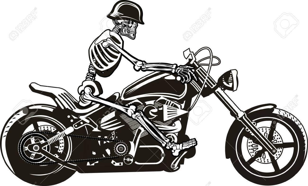 2 motorcycle riders clipart jpg freeuse Skeleton riding motorcycle clipart 2 » Clipart Portal jpg freeuse