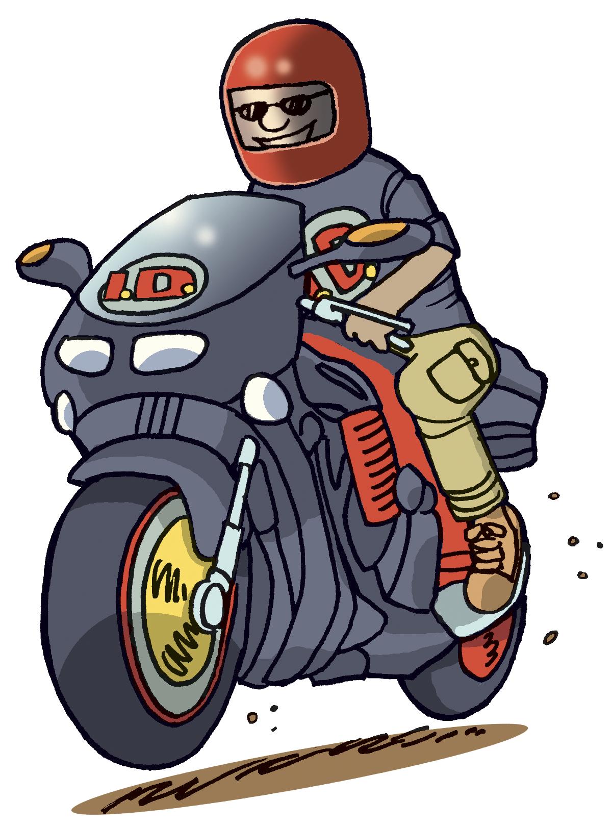Motorbike guy clipart