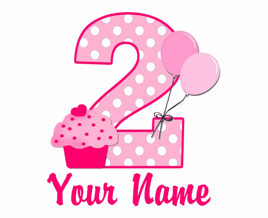 Pink number 2 birthday clipart png library Birthday Candles Clipart 2nd Birthday - 2 Birthday Clipart Png Free ... png library
