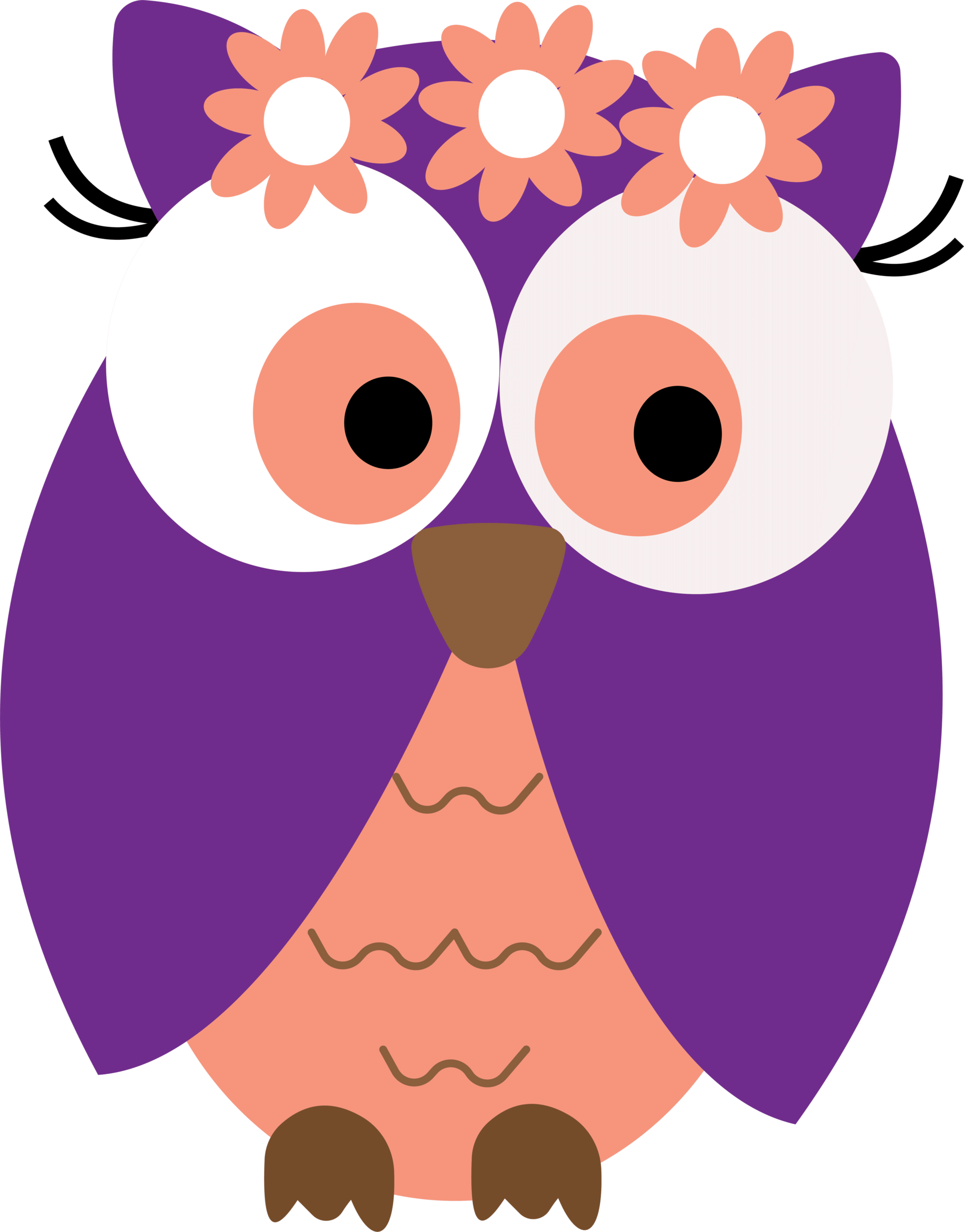 Library of 2 owls together picture stock png files Clipart ...