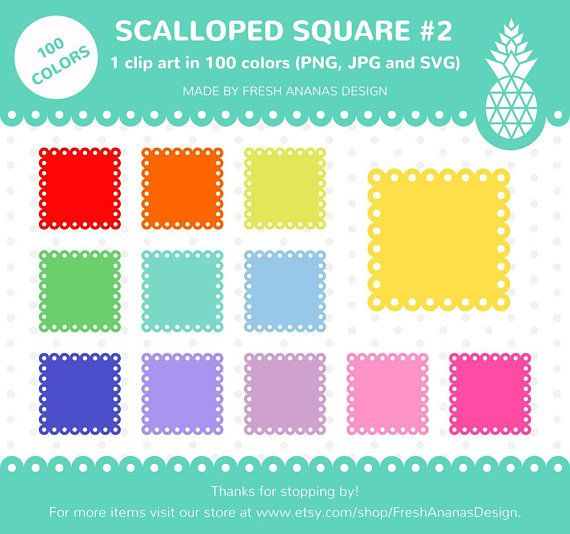 2 part tag clipart svg free stock 100 Colors Clip Art: Scalloped Square #2, Scalloped Clipart ... svg free stock