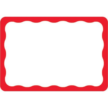 2 part tag clipart image royalty free Amscan Party, Red Border Name Tags 2 1/2 x 3 1/2 inches 100 image royalty free