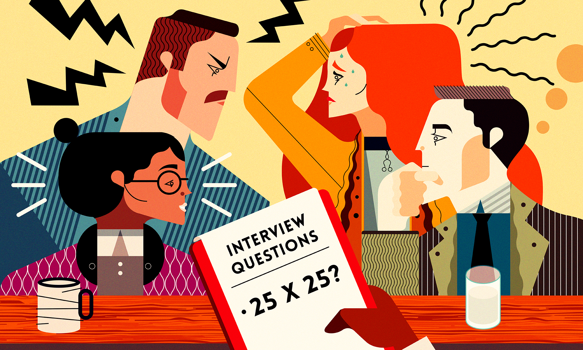 2 people asking question clipart royalty free 5 interview questions that will help you hire better people | royalty free