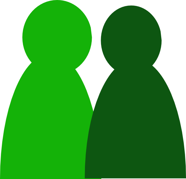 2 people clipart clip art free Two Green People Clip Art at Clker.com - vector clip art online ... clip art free