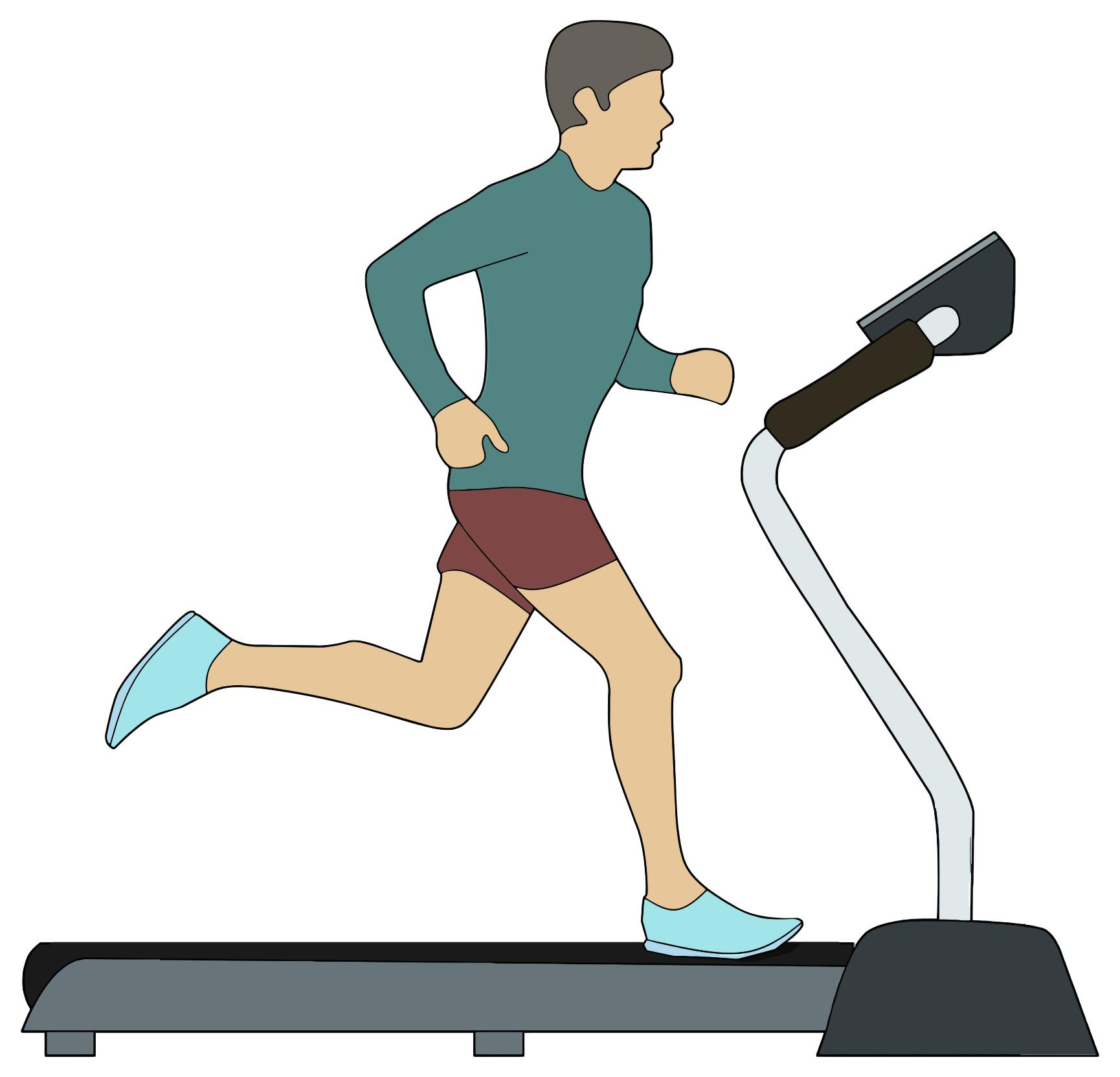 2 people on treadmill clipart jpg library stock HEALTH Exercising on a treadmill may diminish menstrual pain | Dünya ... jpg library stock