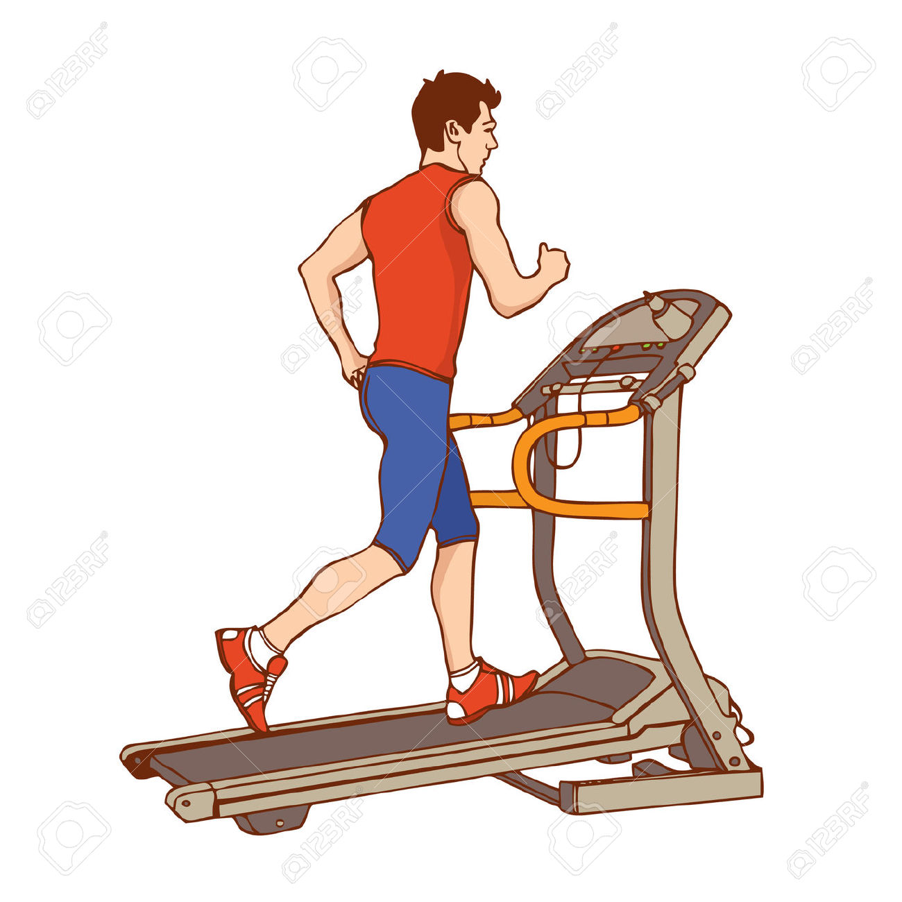 2 people on treadmill clipart graphic free library Free Exercising Treadmill Cliparts, Download Free Clip Art, Free ... graphic free library
