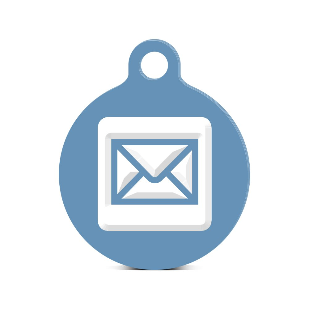 2 pieces of mail clipart image royalty free library Amazon.com: Mail Round Keychain with Tab engraved icon symbol 2 Red ... image royalty free library