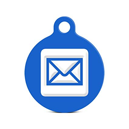 2 pieces of mail clipart free Mail Round Keychain with Tab engraved icon symbol 2 Blue free