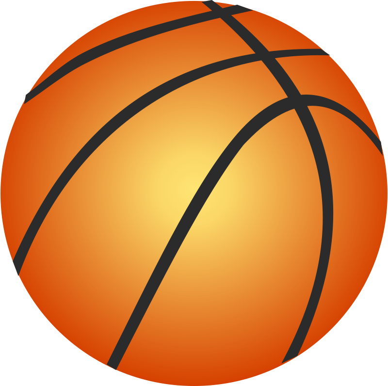 Free flaming basketball clipart