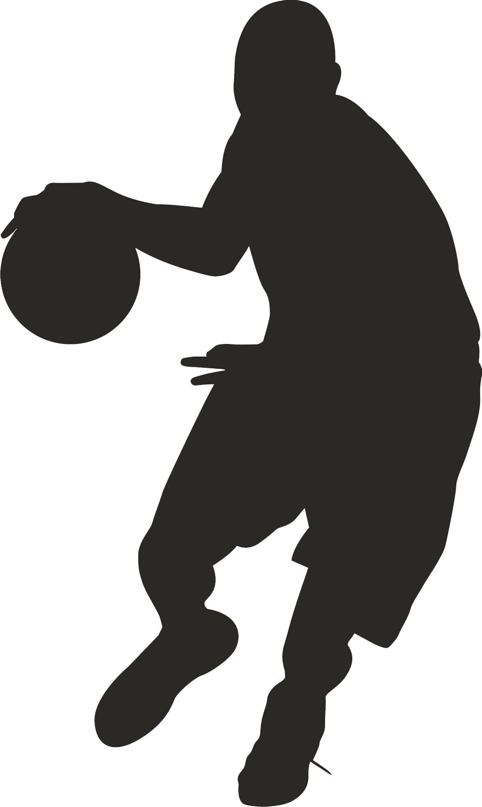 Football player clipart gray vector black and white download Silhouette Basketball Players at GetDrawings.com | Free for personal ... vector black and white download