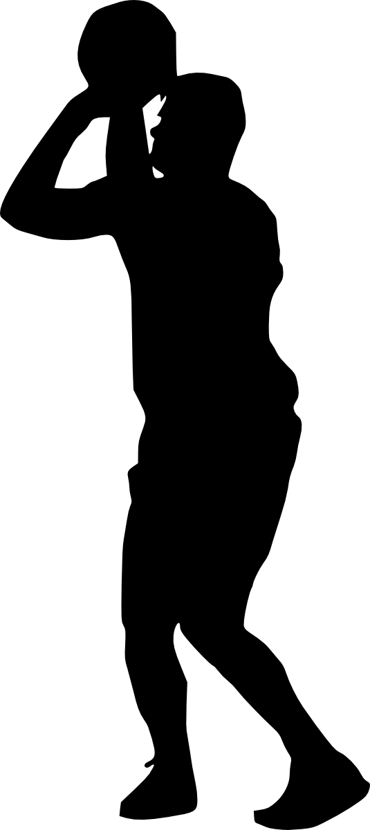 One on one basketball clipart svg black and white stock Basketball Player Silhouette at GetDrawings.com | Free for personal ... svg black and white stock