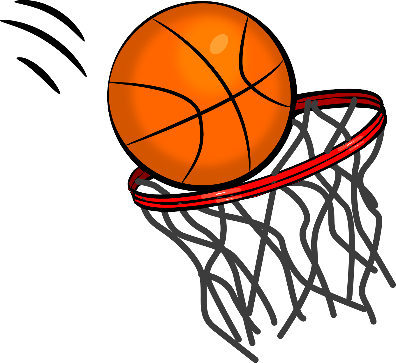 Basketball grey lines clipart
