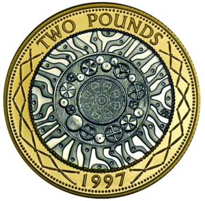 2 pound coin clipart
