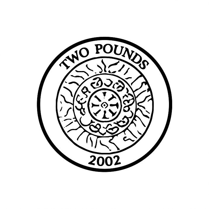 2 pound coin clipart banner freeuse stock Details about X11954 UK Currency £2 two pound coin - Self inking teacher  reward xstamper stamp banner freeuse stock