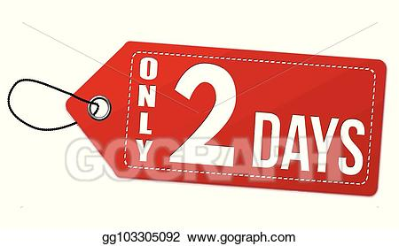 2 price clipart free stock Vector Stock - Only 2 days label or price tag. Clipart Illustration ... free stock