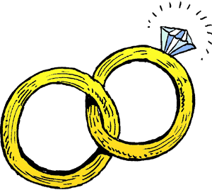 Marraige clipart svg black and white library Linked wedding rings clipart free clipart images 2 - Cliparting.com svg black and white library