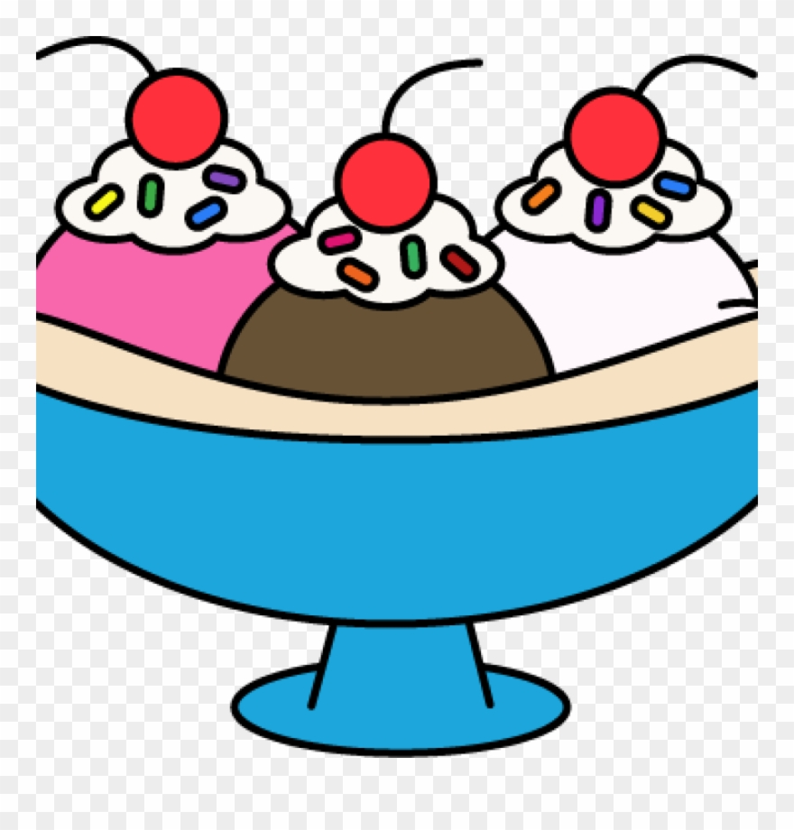 2 scoop sundae clipart picture library Png Transparent Library Ice Cream Sundae Vector - Banana Split Ice ... picture library