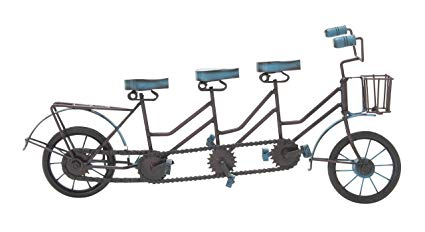 2 seater bike clipart clipart stock Deco 79 24507 Metal Wood 3 Seat Bicycle clipart stock