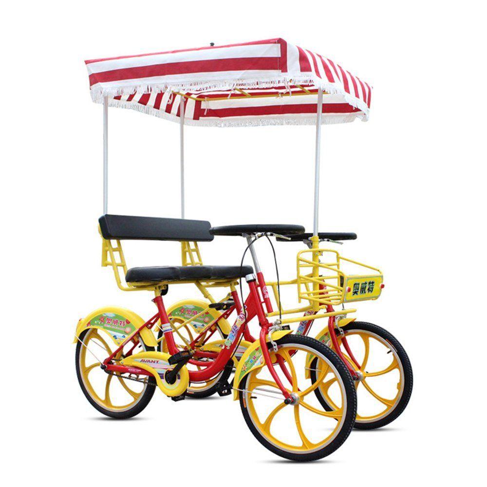2 seater bike clipart clip art freeuse stock Amazon.com : HolleywebTM Two Person Surrey Bike 2 Wheels Quadricycle ... clip art freeuse stock
